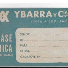Líneas de navegación: ETIQUETA DE CARTON YBARRA Y CIA. LINEA SUD-AMERICA. . Lote 190232192