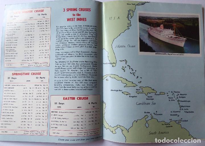 Líneas de navegación: PR-1467. BERGENSFJORD. NORWERGIAN AMERICA LINE. 3 WEST INDIES CRUISES. YEAR 1969. - Foto 2 - 190613200