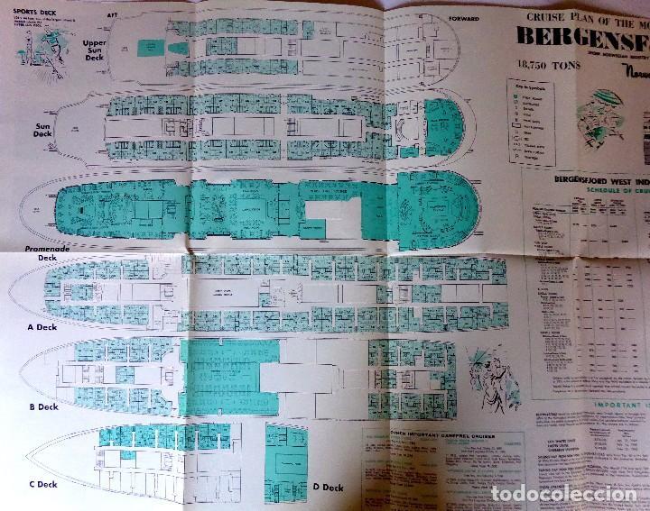 Líneas de navegación: PR-1467. BERGENSFJORD. NORWERGIAN AMERICA LINE. 3 WEST INDIES CRUISES. YEAR 1969. - Foto 5 - 190613200