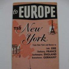 Líneas de navegación: PR-1506. TSS NEW YORK, GREEK LINE.AÑOS 50.. Lote 190822243