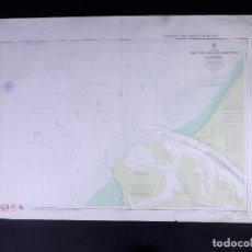 Líneas de navegación: HOEK VAN HOLLAND ROADSTEAD AND EUROPOORT. CARTA NAUTICA 1971. Lote 190987547