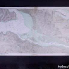 Líneas de navegación: SCOTLAND-WEST COAST. RIVER CLYDE GOUROCK TO DUMBARTON. CARTA NAUTICA 1948. Lote 190991406