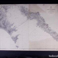 Líneas de navegación: MEDITERRANEAN. ITALY-WEST COAST. GULF OF SPEZIA. CARTA NAUTICA 1931. Lote 190998011
