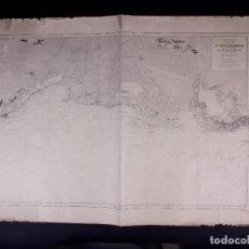 Líneas de navegación: MER MEDITERRANEE. COTE DE FRANCE. DE CETTE A MARSEILLE. CARTA NAUTICA 1867. Lote 190999367