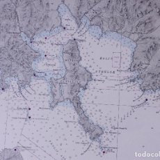 Líneas de navegación: ASIA. USSR-SIBERIA, OSTROV ASKOL'D TO MYS POVOROTNYY . CARTA NAUTICA 1936. Lote 191004735