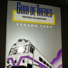Líneas de navegación: GUÍA DE TRENES 1989,PROVINCIA CIUDAD REAL. Lote 193038396