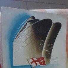 Líneas de navegación: ANTIGUO FOLLETO.GIVLIO CESARE AVGVSTVS.TRASATLANTICO.SOCIETA NAVIGAZIONE GENOVA ITALIA.. Lote 193753245