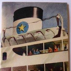 Líneas de navegación: PR-1678. MS SAGA/ MS SUECIA/MS BRITANNIA. SVENSKA LLOYD. 1950-1951. GOTEBORG-TILBURY-LONDON. Lote 194502391