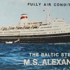 Líneas de navegación: PR-1686. M.S. ALEXANDR PUSHKIN. THE BALTIC STEAMSHIP COMPANY. DECK PLAN. AÑOS 60. . Lote 194536865