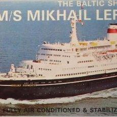 Líneas de navegación: PR-1699. MS MIKHAIL LERMONTOV. THE BALTIC SHIPPING COMPANY. DECK PLAN. AÑOS 60.. Lote 194644933