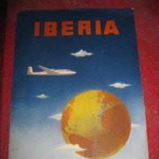 Líneas de navegación: ANTIGUA CARPETA IBERIA LINEAS AEREAS ESPAÑOLAS Y SOBRE ALGODON PARA LOS OIDOS AÑOS 50. Lote 194689180