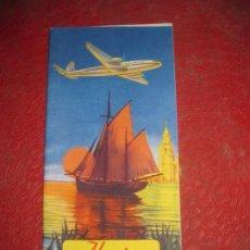 Líneas de navegación: FOLLETO RUTAS DE LOS AVIONES . IBERIA LINEAS AEREAS ESPAÑOLAS AÑOS 50 . Lote 194689328