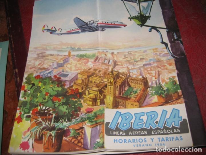 CATALOGO FOLLETO IBERIA LINEAS AEREAS ESPAÑOLAS 1954 . INSTRUCCIONES RUTAS 22PAG (Coleccionismo - Líneas de Navegación)