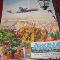 Líneas de navegación: CATALOGO FOLLETO IBERIA LINEAS AEREAS ESPAÑOLAS 1954 . INSTRUCCIONES RUTAS 22PAG. Lote 194689475