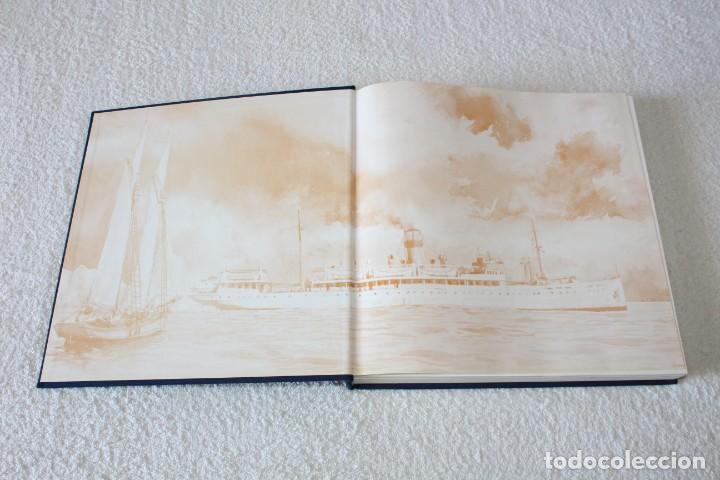 Líneas de navegación: TRASMEDITERRANEA, TODO AVANTE (75 ANIVERSARIO). MARINO GOMEZ SANTOS - 1ª EDICIÓN 1991 - Foto 2 - 194950332