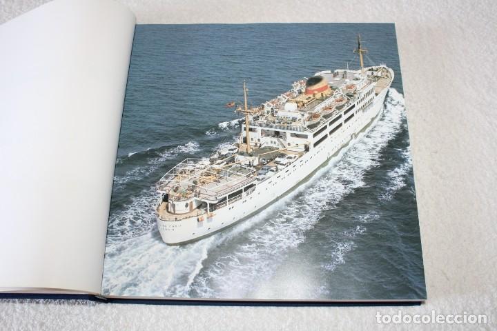 Líneas de navegación: TRASMEDITERRANEA, TODO AVANTE (75 ANIVERSARIO). MARINO GOMEZ SANTOS - 1ª EDICIÓN 1991 - Foto 4 - 194950332