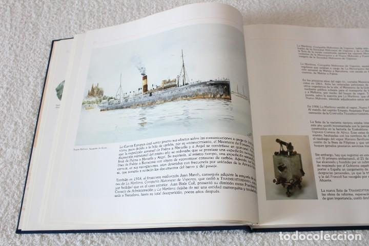 Líneas de navegación: TRASMEDITERRANEA, TODO AVANTE (75 ANIVERSARIO). MARINO GOMEZ SANTOS - 1ª EDICIÓN 1991 - Foto 8 - 194950332