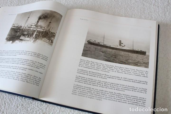 Líneas de navegación: TRASMEDITERRANEA, TODO AVANTE (75 ANIVERSARIO). MARINO GOMEZ SANTOS - 1ª EDICIÓN 1991 - Foto 11 - 194950332