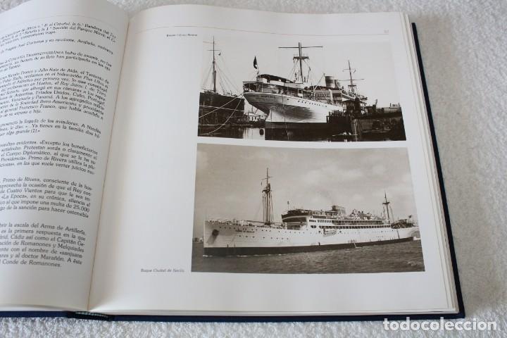 Líneas de navegación: TRASMEDITERRANEA, TODO AVANTE (75 ANIVERSARIO). MARINO GOMEZ SANTOS - 1ª EDICIÓN 1991 - Foto 12 - 194950332