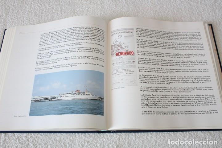Líneas de navegación: TRASMEDITERRANEA, TODO AVANTE (75 ANIVERSARIO). MARINO GOMEZ SANTOS - 1ª EDICIÓN 1991 - Foto 16 - 194950332