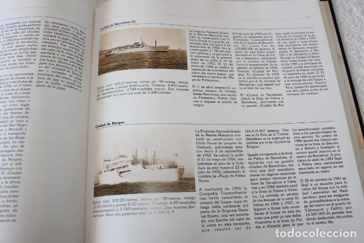 Líneas de navegación: TRASMEDITERRANEA, TODO AVANTE (75 ANIVERSARIO). MARINO GOMEZ SANTOS - 1ª EDICIÓN 1991 - Foto 20 - 194950332