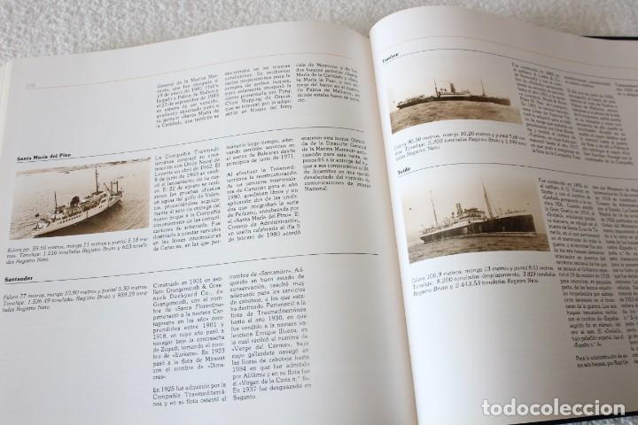 Líneas de navegación: TRASMEDITERRANEA, TODO AVANTE (75 ANIVERSARIO). MARINO GOMEZ SANTOS - 1ª EDICIÓN 1991 - Foto 22 - 194950332