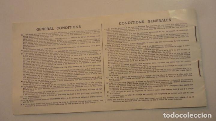 Líneas de navegación: ANTIGUO BILLETE.COMPAÑIA TRASMEDITERRANEA S.A CIUDAD DE GRANADA.2ª CLASE.PALMA-VALENCIA.1970? - Foto 3 - 195028752