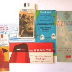 Líneas de navegación: PR-1707. FRENCH LINE. 6 PROGRAMAS (VER DESCRIPCION). 1968, 1969-70, 1970-71, 1967-68, . Lote 195047528