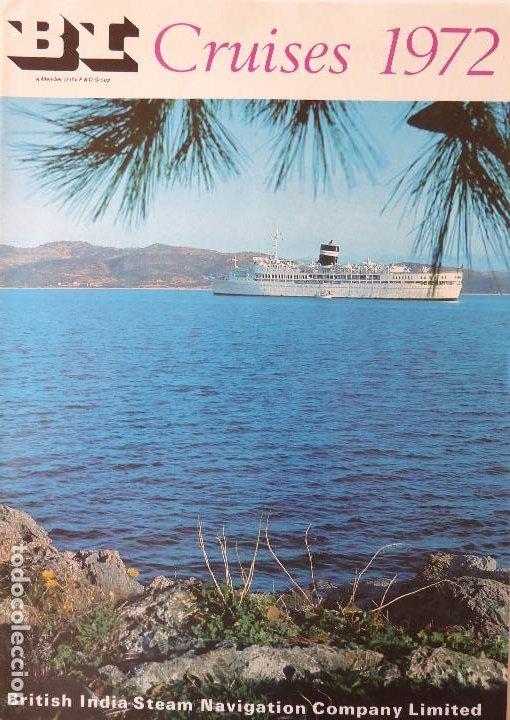 PR-1709. S.S. NEVASA / S.S. UGANNDA. BRITISH INDIA STEAM NAVEGATION CO. CRUISES 1972. (Coleccionismo - Líneas de Navegación)