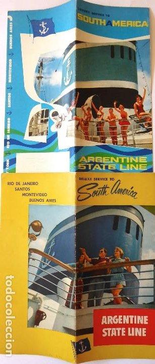 PR-1714. ARGENTINE STATE LINE. RIO DE LA PLATA, RIO JACHAL, RIO TUNUYÁN. AÑO 1951. 2 CATALOGOS. (Coleccionismo - Líneas de Navegación)