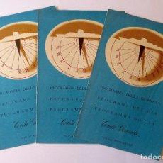 Líneas de navegación: PR-1716. CONTE GRANDE.PRIMA CLASSE. ITALIA NAVIGAZIONE. 3 PROGRAMMA DELLA GIORNATA. JUNIO 1957.. Lote 195057947