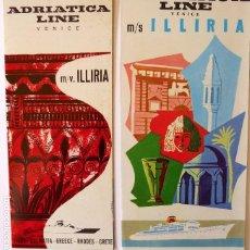 Líneas de navegación: PR-1717. MS ILLIRIA. ADRIATICA LINE. VENICE. 2 CATALOGOS AÑOS 1963 Y 1962. Lote 195058066