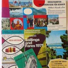 Líneas de navegación: PR-1718. HOLLAND AMERICA LINE. 5 CATALOGOS DIFERENTES (VER DESCRIPCIÓN). AÑOS 60 Y 70.. Lote 195058332
