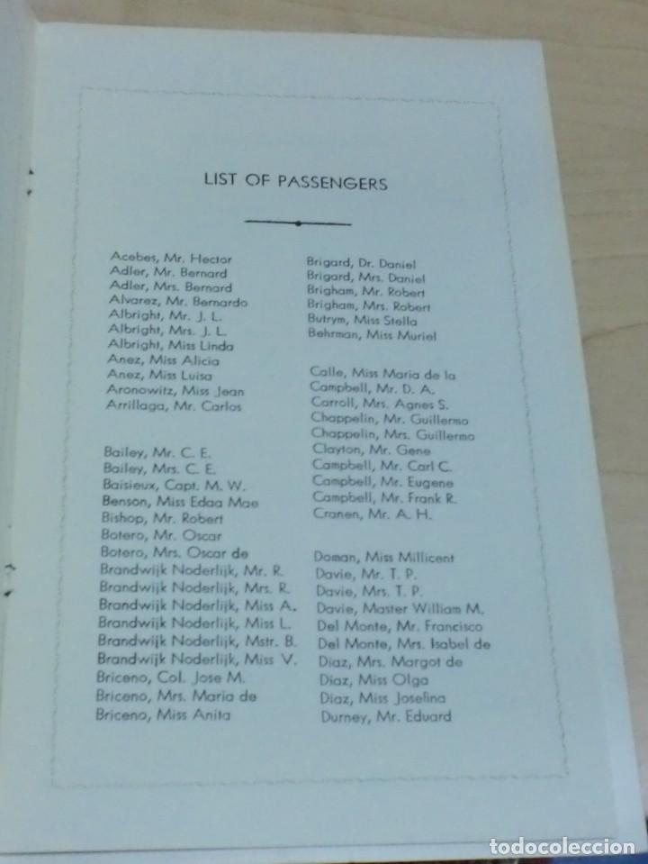 Líneas de navegación: LISTA PASAJEROS GRACE LINE PASSENGER LIST GRACE LINES S.S. SANTA PAULA AÑO 1941 - Foto 2 - 195108783