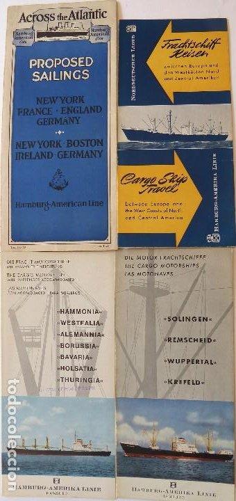 PR-1725. HAMBURG-AMERIKA LINE.4 CATALOGOS AÑOS 1927, 1956 (2), Y 1966. (Coleccionismo - Líneas de Navegación)