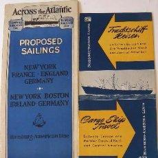 Líneas de navegación: PR-1725. HAMBURG-AMERIKA LINE.4 CATALOGOS AÑOS 1927, 1956 (2), Y 1966. . Lote 195153312