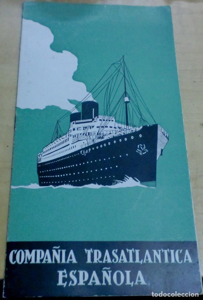 LISTA PASAJEROS COMPAÑÍA TRASATLÁNTICA ESPAÑOLA VAPOR-CORREO MARQUÉS DE COMILLAS AÑO 1941 (Coleccionismo - Líneas de Navegación)