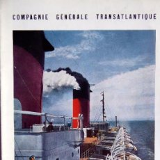 Líneas de navegación: PR-1727.PAQUEBOT ILE DE FRANCE. COMPAGNIE GÉNÉRALE TRANSATLANTIQUE. AÑO 1949.. Lote 195410397