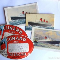 Líneas de navegación: PR-1729. LOTE CUNARD LINE. LETTER AND POST CARD QUEEN MARY. POST SAXONIA. AÑOS 50-60.. Lote 195413675