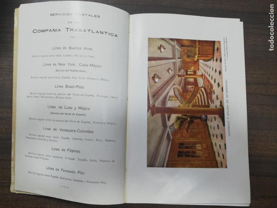 Líneas de navegación: COMPAÑIA TRASATLANTICA. VAPORES CORREOS ESPAÑOLES. LIBRO DE INFORMACION PARA PASAJEROS. 1913-14. - Foto 5 - 196863140