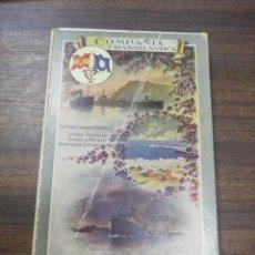 Líneas de navegación: COMPAÑIA TRASATLANTICA. VAPORES CORREOS ESPAÑOLES. LIBRO DE INFORMACION PARA PASAJEROS. 1913-14.. Lote 196863140