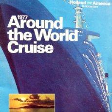 Linhas de navegação: PR-1851. SS ROTTERDAM, AOUND THE WORLD CRUISE. AÑO 1977. HOLLAND AMERICA CRUISES.. Lote 198060115