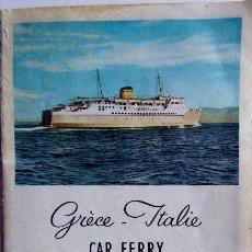 Linhas de navegação: PR-1867. CAR FERRY EGNATIA. HELLENIC MEDITERRANEAN LINES. AÑOS 60.. Lote 198348397