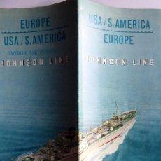 Líneas de navegación: PR-1870. JOHNSON LINE. SWEDISH FLAG VESSELS. USA/SOUTH AMERICA/EUROPE. AÑO 1965.. Lote 198521247