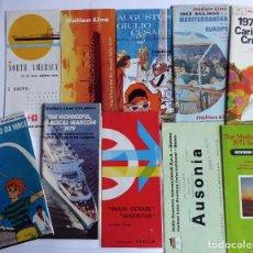 Linhas de navegação: PR-1875. LOTE DE 10 PROGRAMAS ITALIAN LINE CRUISES. AÑOS 50-60-70.. Lote 198553561