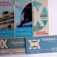 Linhas de navegação: PR-1876. 5 PROGRAMAS CRUCEROS YBARRA. AÑOS 60. VER DESCRIPCIONES.. Lote 198556791
