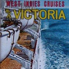 Linhas de navegação: PR-1880. MS VICTORIA. SPRING & SUMMER 1965. WEST INDIES CRUISES. INCRES LINE. . Lote 198561042