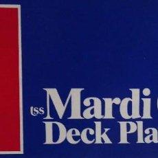 Linhas de navegação: PR-1881. TSS MARDI GRAS. DECK PLANS. AÑOS 70. . Lote 198562171