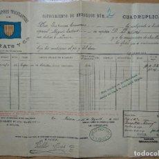 Líneas de navegación: LÍNEA DE VAPORES TRASATLÁNTICOS F. PRATS Y CIA. 1897. CADIZ.. Lote 198839311