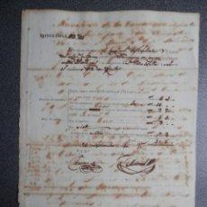 Líneas de navegación: NAVEGACIÓN MANUSCRITO AÑO 1846 PAGO DERECHOS FONDEO BERGANTIN EN CUBA. Lote 199078862